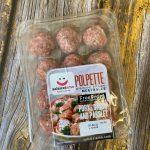 Pork onion parsley meatball